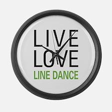 Live Love Line Dance Large Wall Clock