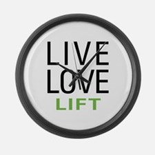 Live Love Lift Large Wall Clock