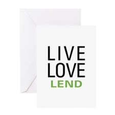Live Love Lend Greeting Card