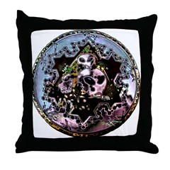 Cropcircle Seal Blue Throw Pillow