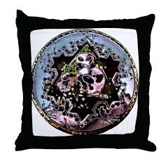 Cropcircle Seal Blue Throw Pillow