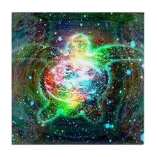 Cosmic Turtle Tile Coaster