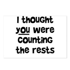 who's counting the rests? Postcards (Package of 8)