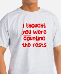 who's counting the rests? T-Shirt