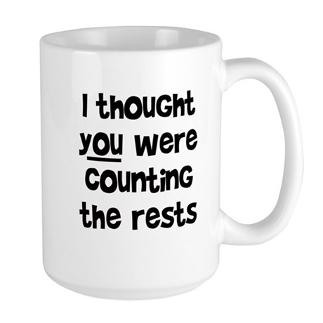 who's counting the rests? Large Mug