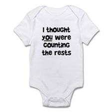 who's counting the rests? Infant Bodysuit