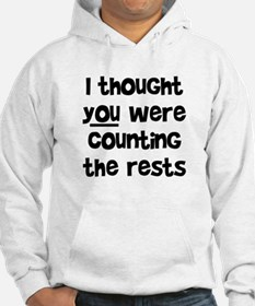 who's counting the rests? Hoodie