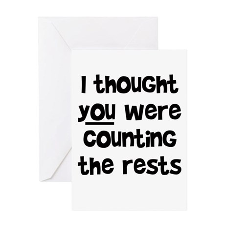 who's counting the rests? Greeting Card