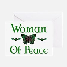 Woman Of Peace Greeting Card