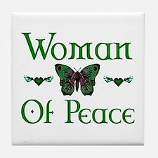 Woman Of Peace Tile Coaster