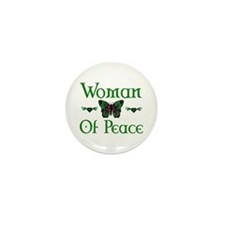 Woman Of Peace Mini Button (10 pack)