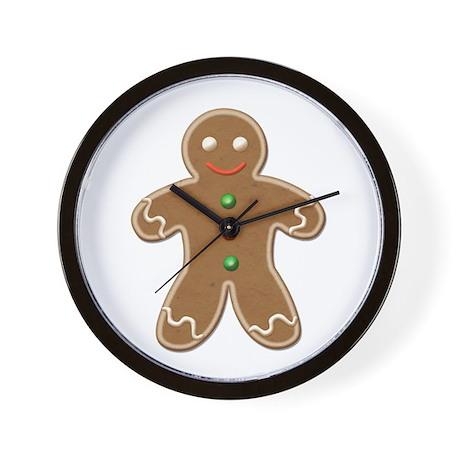 Holiday Gingerbread Man Wall Clock