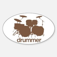 Drummer Oval Decal