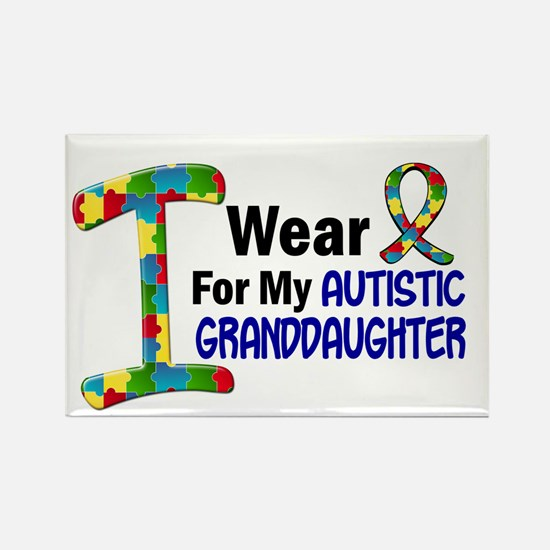 I Wear Puzzle Ribbon 21 (Granddaughter) Rectangle