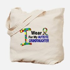 I Wear Puzzle Ribbon 21 (Granddaughter) Tote Bag