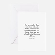 LUKE  18:16 Greeting Cards (Pk of 10)