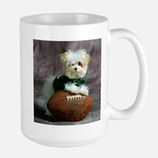Maltese Puppy Dog with Footba Mug