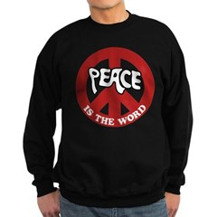 Peace is the word Sweatshirt (dark)