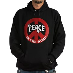 Peace is the word Hoodie (dark)