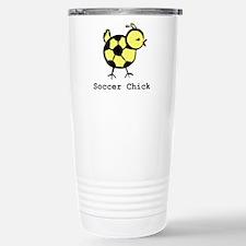 Girly Soccer Chick by LittleA Stainless Steel Trav