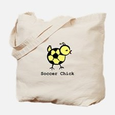 Girly Soccer Chick by LittleA Tote Bag