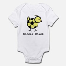 Girly Soccer Chick by LittleA Infant Bodysuit