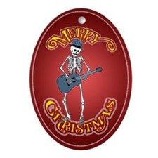 Skeleton Bluesman Christmas Ornament