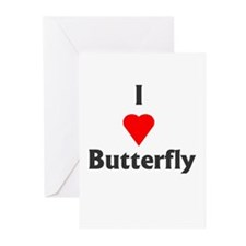 I Love Butterfly Greeting Cards (Pk of 10)