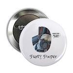 PARTY POOPER PUG Button
