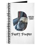 PARTY POOPER PUG Journal