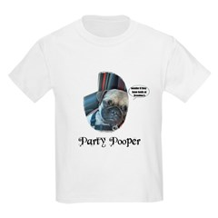 PARTY POOPER PUG Kids T-Shirt