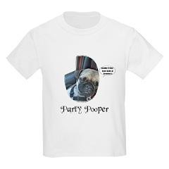 PARTY POOPER PUG Kids T-Shirt