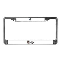 PARTY POOPER PUG License Plate Frame