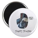 PARTY POOPER PUG Magnet