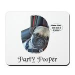 PARTY POOPER PUG Mousepad