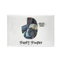 PARTY POOPER PUG Rectangle Magnet (10 pack)