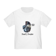 PARTY POOPER PUG T