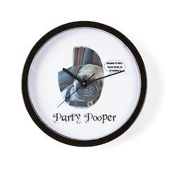 PARTY POOPER PUG Wall Clock