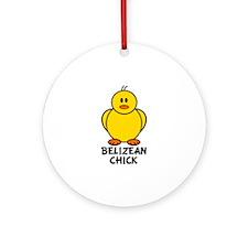 Belizean Chick Ornament (Round)