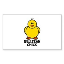 Belizean Chick Rectangle Decal