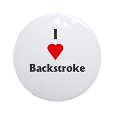 I Love Backstroke Ornament (Round)