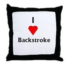 I Love Backstroke Throw Pillow