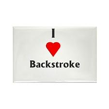 I Love Backstroke Rectangle Magnet
