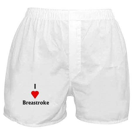 I Love Breaststroke Boxer Shorts