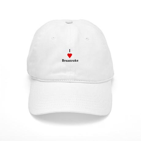 I Love Breaststroke Cap