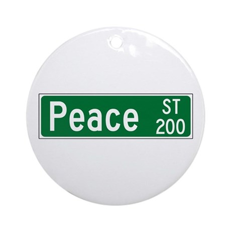 Peace St, Raleigh (NC) Ornament (Round)