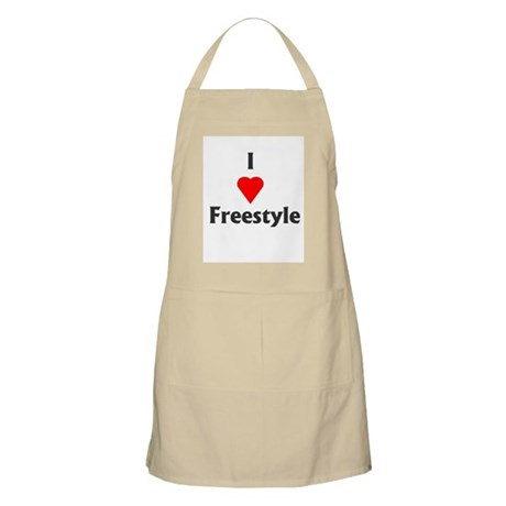 I Love Freestyle BBQ Apron
