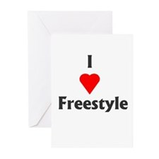 I Love Freestyle Greeting Cards (Pk of 10)