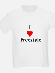 I Love Freestyle Kids T-Shirt
