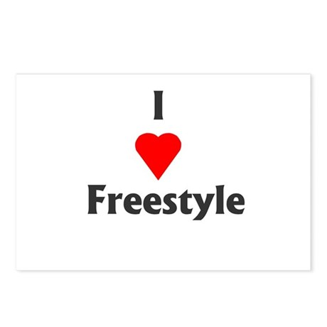 I Love Freestyle Postcards (Package of 8)